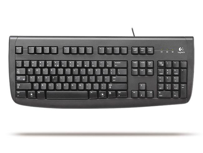 מוצר Logitech Deluxe 250 Keyboard USB Black